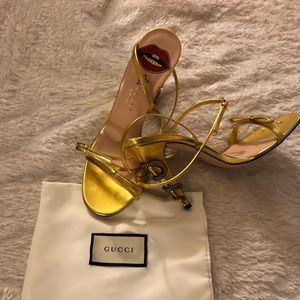 GUCCI Gold Sandals